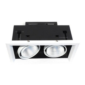 Kit 8 Spot Led 2x12w Decoracao Arq Recuado Fundo Preto