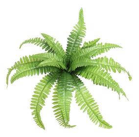 2 Samambaia Artificial 53 Cm Plantas/parede Folhagem 67009