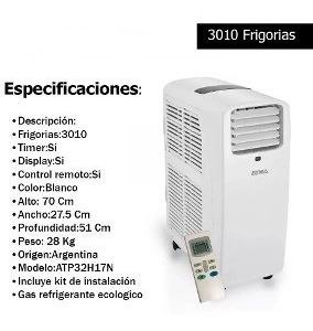 Aire Acondicionado 3200 F/c Portable Atma Atp32h15x