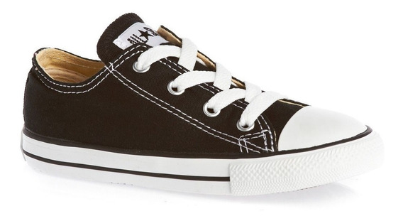 Zapatillas Converse All Star Chuck Taylor Kids De Niño Negra