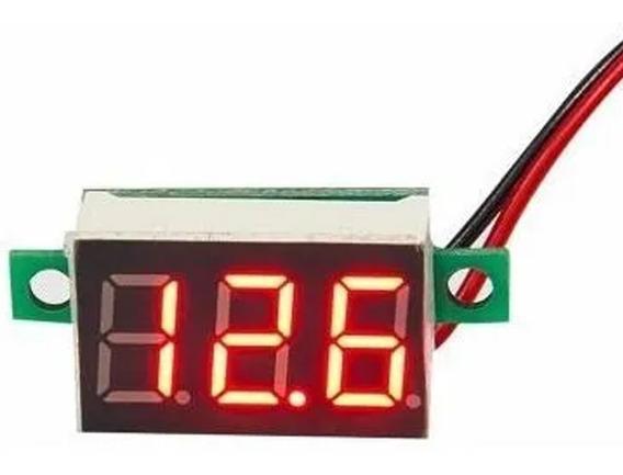 Mini Voltímetro Digital 4.5~30v Bateria Som Fonte Vermelho
