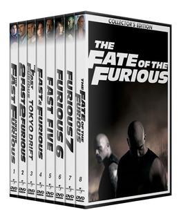 Rapido Y Furioso Saga 8 Peliculas Coleccion Dvd Latino