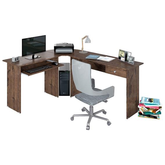 Mesa Para Escritório Zanzini Móveis Max L 1 Gaveta Jacaranda