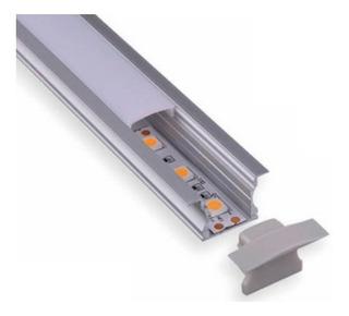 Perfil De Aluminio Para Sobreponer/empotrar Sin Tira Led