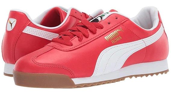Tenis Puma Roma Basic High Rojo Blanco Caballero 353572-96