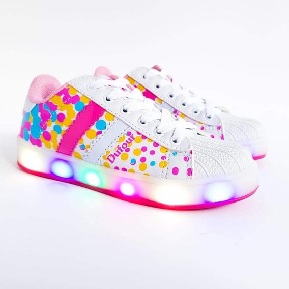 Zapatillas Con Luces Led Para Niñas Multicolor Dufour