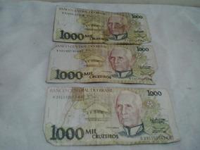Cédula Antiga 1.000 Cruzeiros - Notas Antigas - Nota Cédula