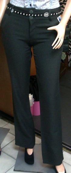 Pantalón De Vestir Para Dama Bota Recta Azul, Negro, Gris,