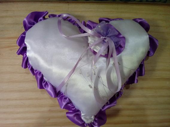 Porta Alianças Coração - Lilás