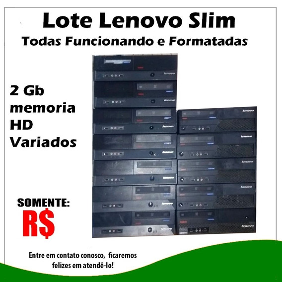 Lote Cpu Lenovo Slim Core2duo E Dual