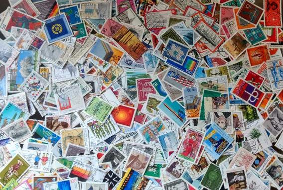 Lote Com 300 Selos Comemorativos Da Alemanha