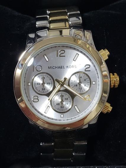 Relógio Michael Kors Unissex Dourado E Prateado +brinde