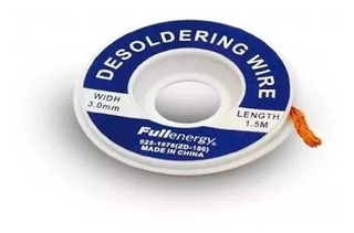Cinta Malla Desoldante 3mm Fullenergy 1.5m Para Desoldar
