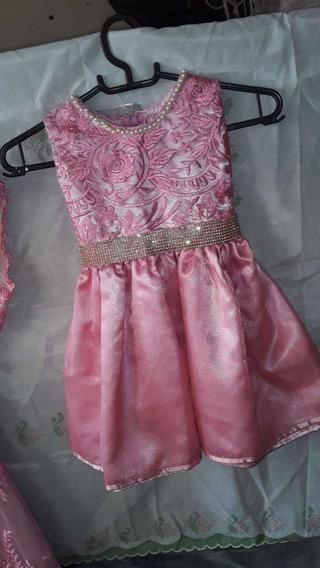 2 Vestidos De Luxo Jardim Encantado Rosa