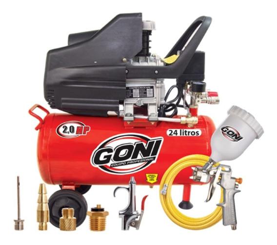 Nuevo Kit Compresor Goni 930 +pistola, Manguera Y Accesorios