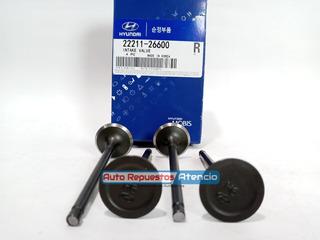 Valvula Admision Hyundai Getz 1.6 Elantra Juego De 4