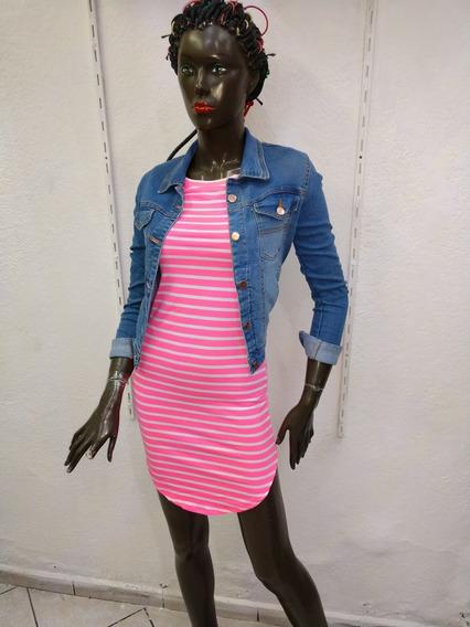 Vestido Bluson Rosa Floresente Modelo 80