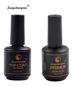 Kit Top Coat + Primer Non Acid Fengshangmei Pretinho Do Pode