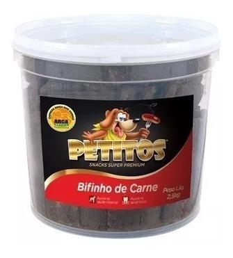 Bifinho De Carne 5kg Petitos Petisco (2x 2,5kg) Balde