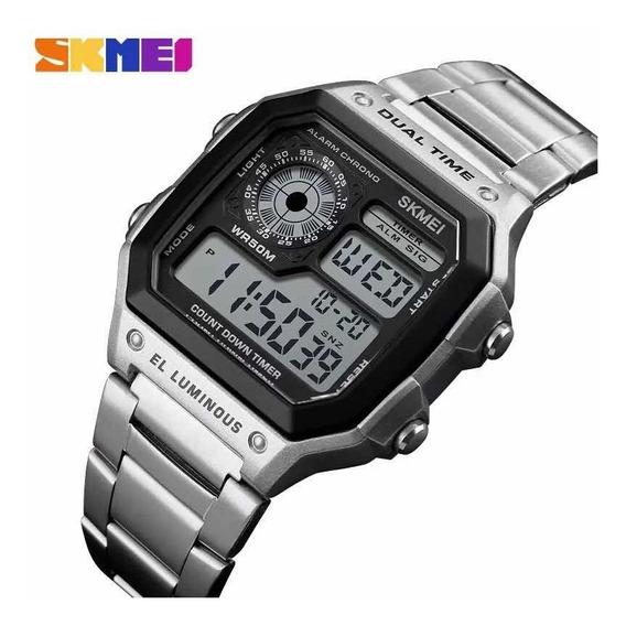 Relógio De Pulso Skmei Digital Aço Inoxidável