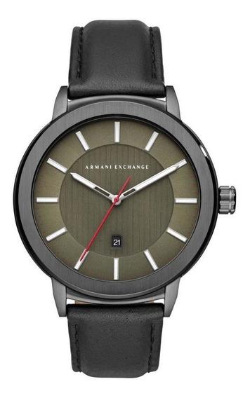 Relógio Masculino Armani Ax1473/0fn 46mm Couro Preto