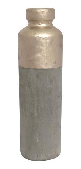 Florero De Cemento Pintado Decoración Centro Mesa 9,5x32 Cm