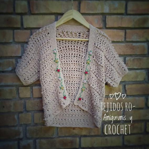 Chaqueta Samay Tejida A Mano A Crochet