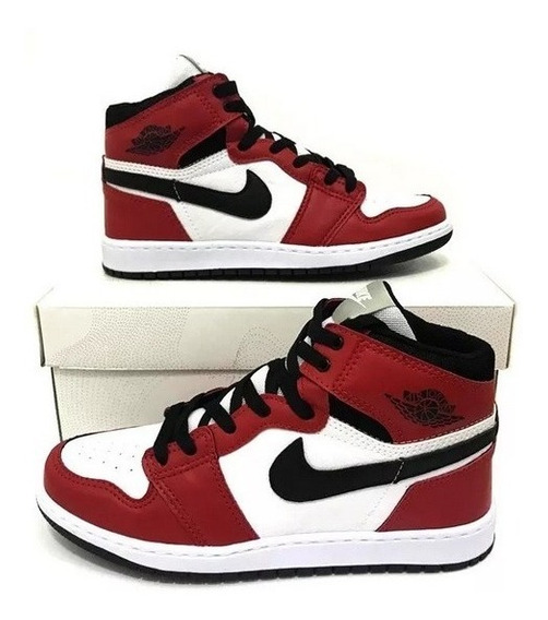 Tênis Cano Alto Air Jordan 1 Chicago Retrô High Importado