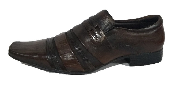 Sapato Jota Pe Marrom Couro Natural