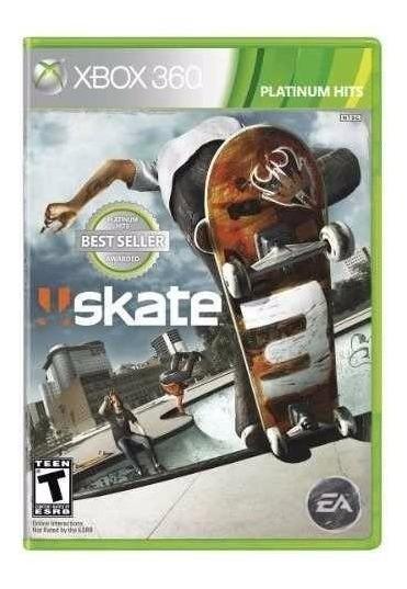 Skate 3 Xbox 360 E Xbox One Mídia Fisica Novo Lacrado
