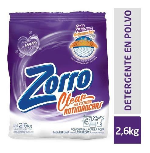 Detergente Polvo Zorro Clear Be 2,6kg
