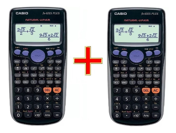 Kit 2 Calculadora Cientifica Casio Fx-82es Plus Frete Grátis