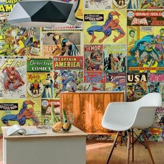 Papel De Parede Adesivo Quadrinhos Hq Super-heróis Marvel Dc
