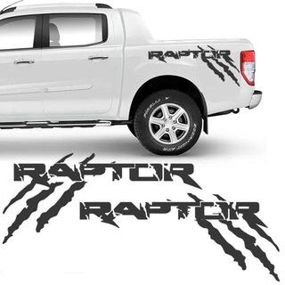 Kit Faixa Ford Ranger Raptor 2013/19 Adesivo Lateral Grafite