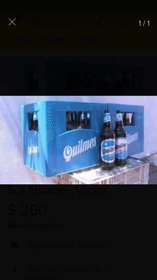 Vendo Envases De Cerveza Y Cajón.