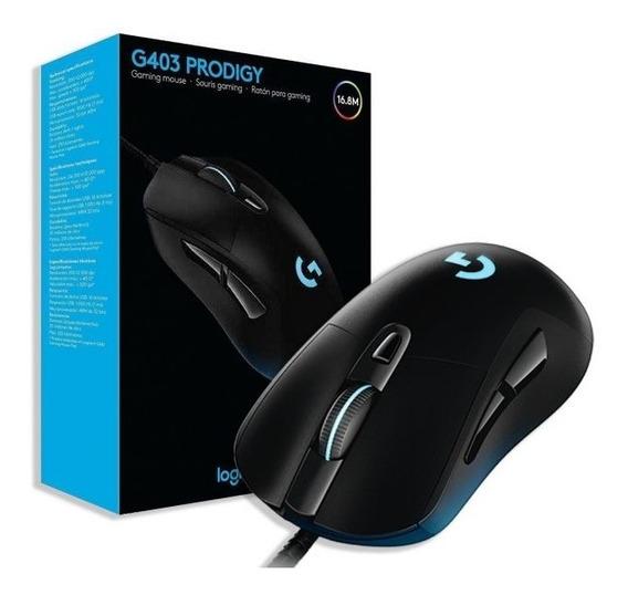 Mouse Gamer Logitec G403 Iluminação Multicores 12000dpi Novo