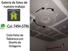 Cielo Falso De Tablaroca Con Diseño De Octagono