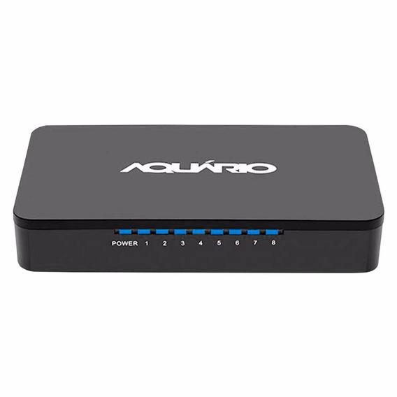 Switch Aquário Sw-0811 8 Portas 10/100 Mbps Full Duplex + Nf
