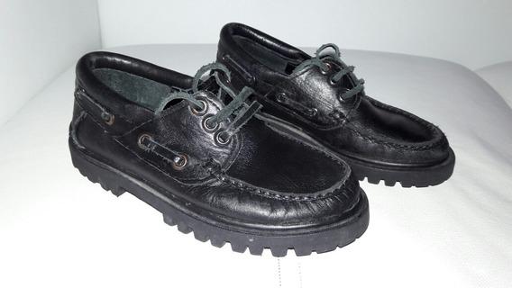 Zapatos Leñadores Goshik De Niño Talle 29 30 Eur Negros