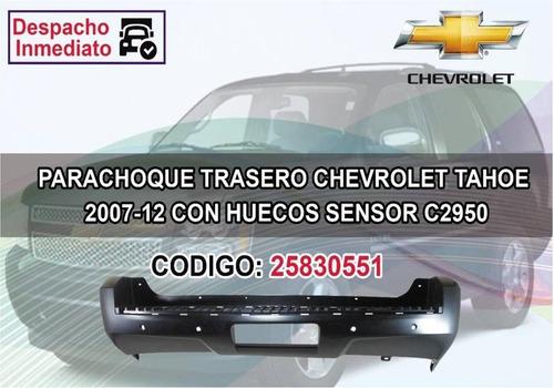 Parachoque Trasero Chevrolet Tahoe 2007-2012 C/hueco De Sens