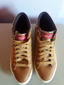 Tênis Coca Cola Shoes Walking Caramelo Numero 38