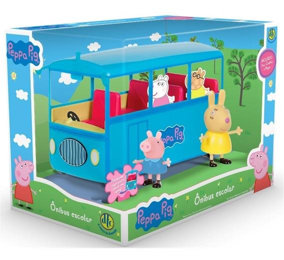 Conjunto Peppa Pig Ônibus Escolar Com Som Original Dtc