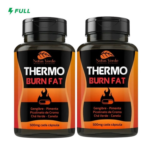 Kit 2 Thermo Burn Fat Acelerador Metabólico 200 Caps 500mg