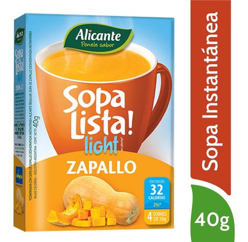 Alicante Sopa Lista Light Instantanea Zapallo X 4 Sobres