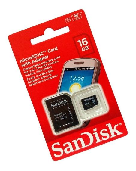 Kits 5 Cartão Sd 16gb Sandisk Lacrado De Fábrica, Promoção