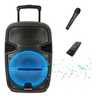 Parlante Bluetooth Portátil Microfono Control Usb Mp3 Leds .