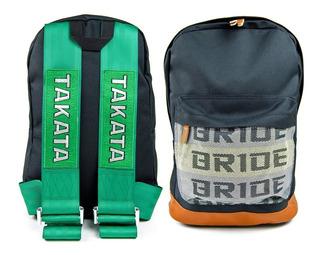 Mochila Takata Jdm Cinturones Auto Calidad Backpack Motos