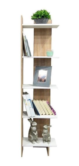 Librero 180 Loreto Esquinero Moderno