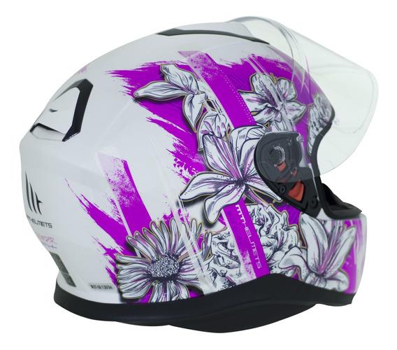 Capacete Mt Helmets Thunder 3 Sv Wild Garden A2 Rosa