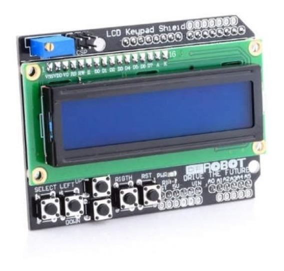Kit 10x Display Lcd Keypad Shield 16x2 1602 Teclado Botoes Arduino - Nota Fiscal